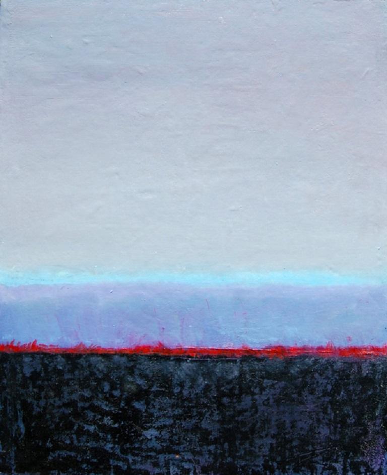 Liz Maxwell Abstract Painting - Shoreline Horizon 13C
