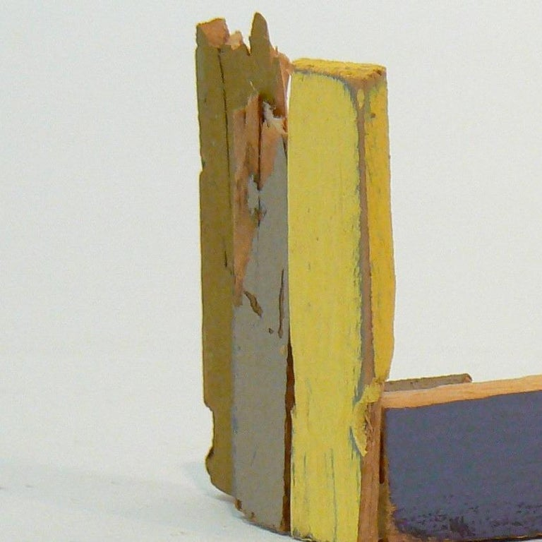 Liz Sweibel, Untitled (Scrapings #10), 2016, Wood, Paint, Found Objects - Abstract Expressionist Sculpture by Liz Sweibel
