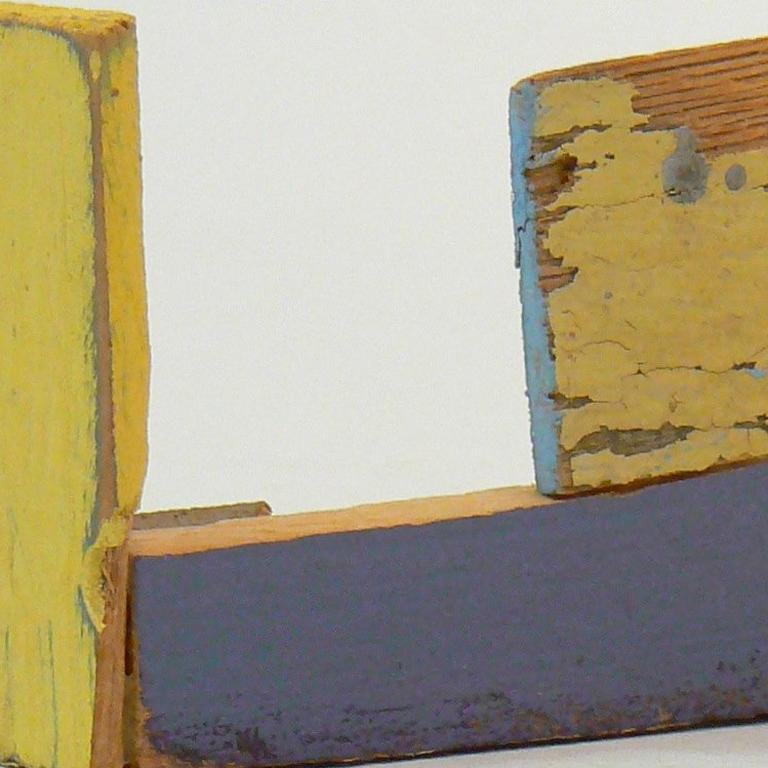 Liz Sweibel, Untitled (Scrapings #10), 2016, Wood, Paint, Found Objects - Brown Abstract Sculpture by Liz Sweibel