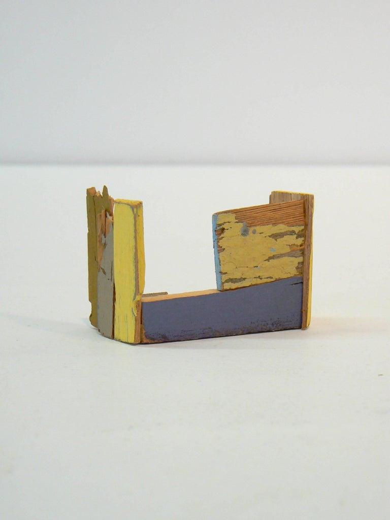 Liz Sweibel, Untitled (Scrapings #10), 2016, Wood, Paint, Found Objects - Sculpture by Liz Sweibel