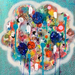 Abstract, Colorful Mixed Media Painting by Liz Tran 'Puff'