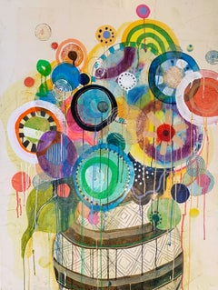 Abstract, Colorful Painting by Liz Tran 'Bouquet Ten'