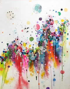 Colorful, Abstract painting, Liz Tran, Go Baby Go