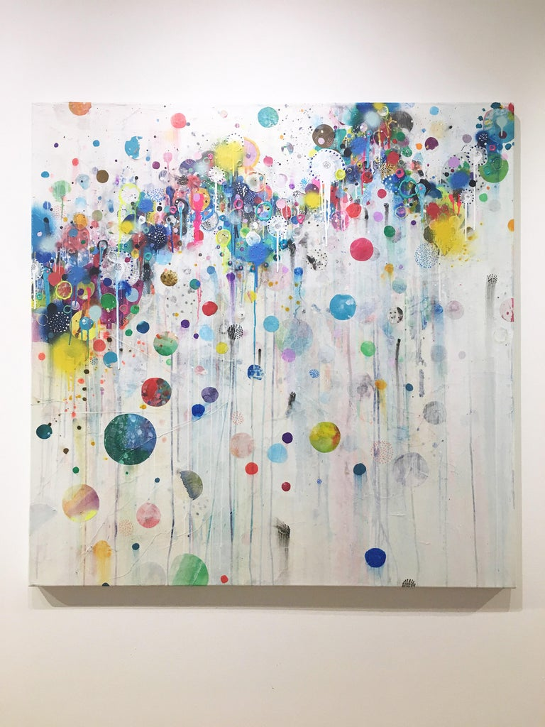 Colorful, Abstract painting, Liz Tran, Nico For Sale 1