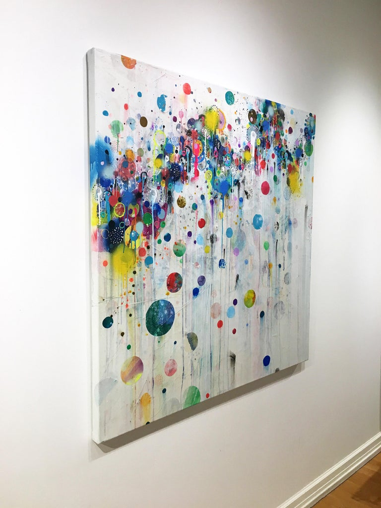 Colorful, Abstract painting, Liz Tran, Nico For Sale 2