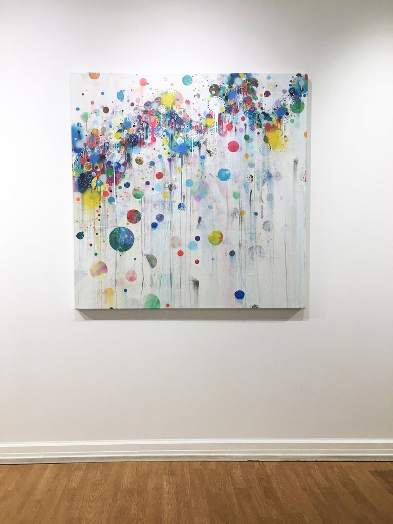 Colorful, Abstract painting, Liz Tran, Nico For Sale 3