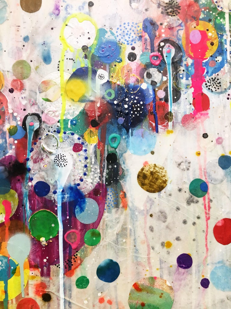 Colorful, Abstract painting, Liz Tran, Nico For Sale 5