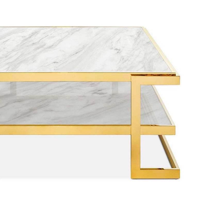 Liz White Coffee Table In New Condition For Sale In Paris, FR