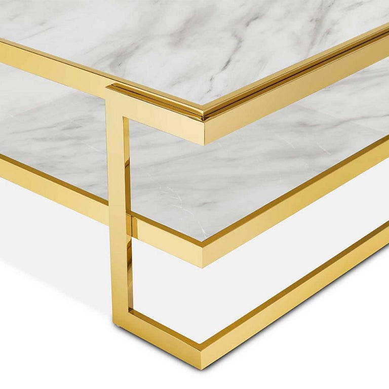 Contemporary Liz White Coffee Table For Sale