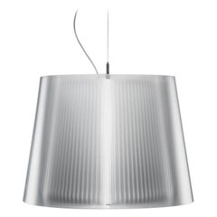 Liza Transparent Suspension Lamp, Made in Italy, in Stock in Los Angeles