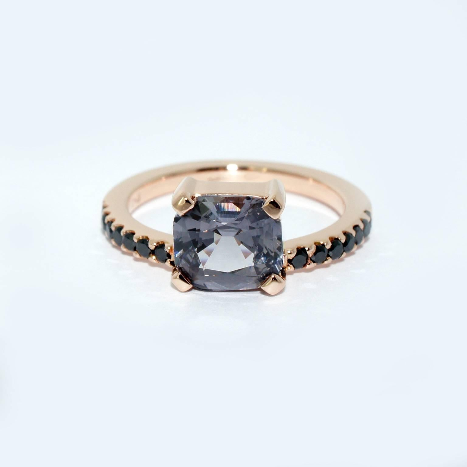 rings silver salt diamond solitaire profile prong grey carved ring rose and by rosecut pepper anueva gold collection evergreen setting low jewelry band of skinny hand products dainty galaxy