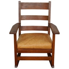 L&JG Stickley Rocking Armchair Rocker #827