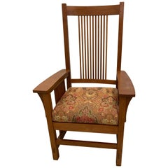 L. & J.G Stickley Spindle Armchair and Dining Chairs, Set of 10