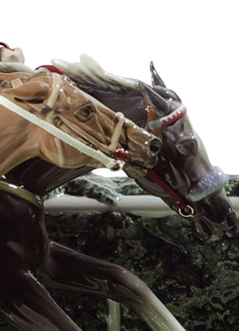Spanish Lladro at the Derby Horses Sculpture by Ernest Massuet. Limited Edition. For Sale