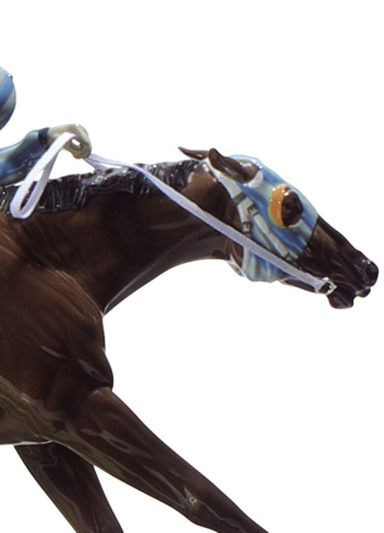 Contemporary Lladro at the Derby Horses Sculpture by Ernest Massuet. Limited Edition. For Sale