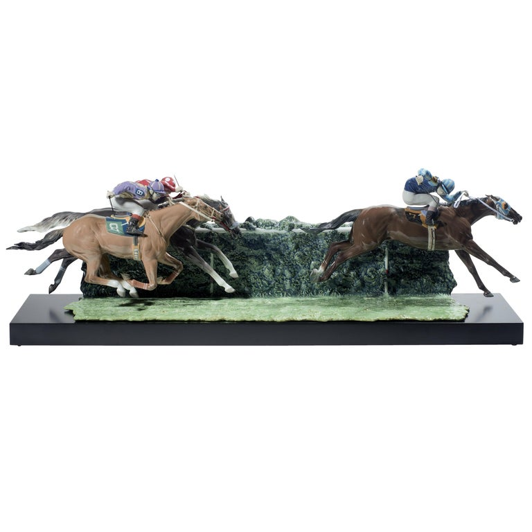 Lladro at the Derby Horses Sculpture by Ernest Massuet For Sale