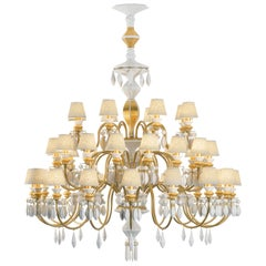 Lladro Belle de Nuit 40-Light Chandelier