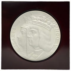 Lladro Discovery of America Centenary Bisque Porcelain Plaque