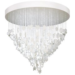 Lladro Magic Forest Chandelier in White by Bodo Sperlein