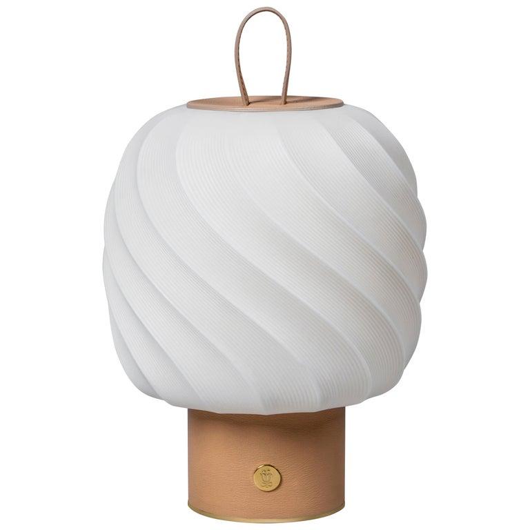 For Sale: Gold (Nude) Lladro Medium Ice Cream Portable Lamp