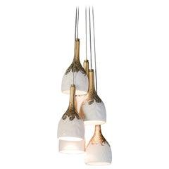 Lladro Naturofantastic 6-Light Ceiling Lamp