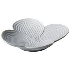 Lladro Naturofantastic Appetizer Plate in White by Marco Antonio Noguerón