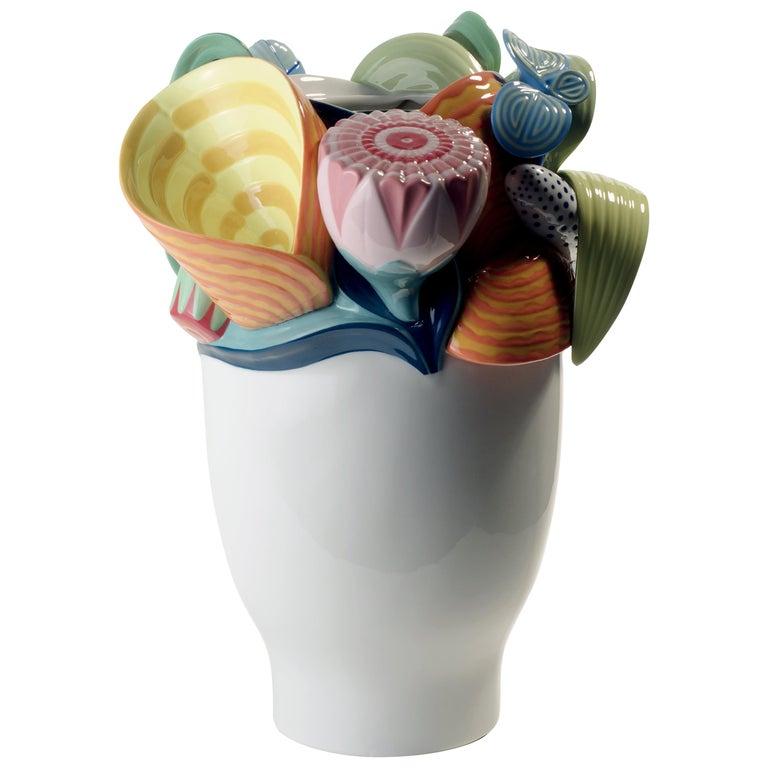 Lladro Naturofantastic Vase in Multi-Color by Marco Antonio Noguerón For Sale