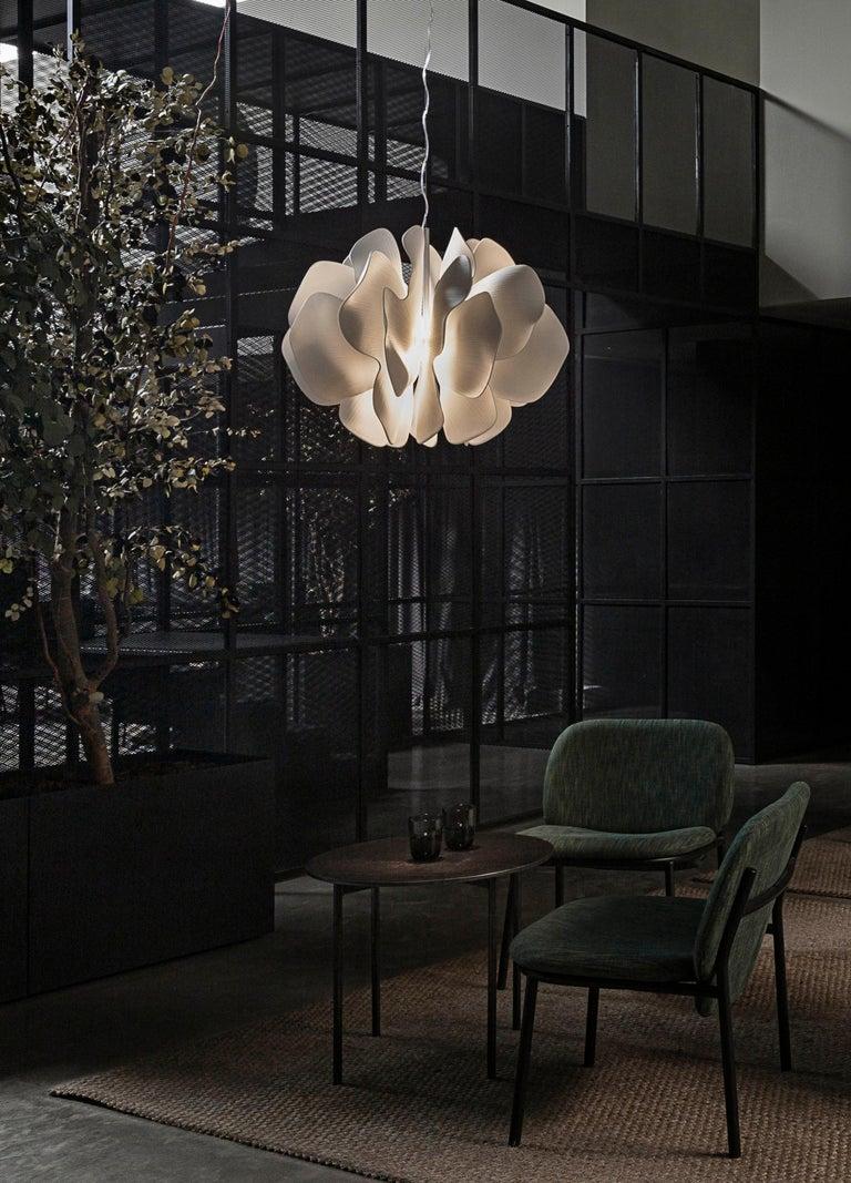 Modern Lladro Nightbloom Hanging Lamp in White For Sale