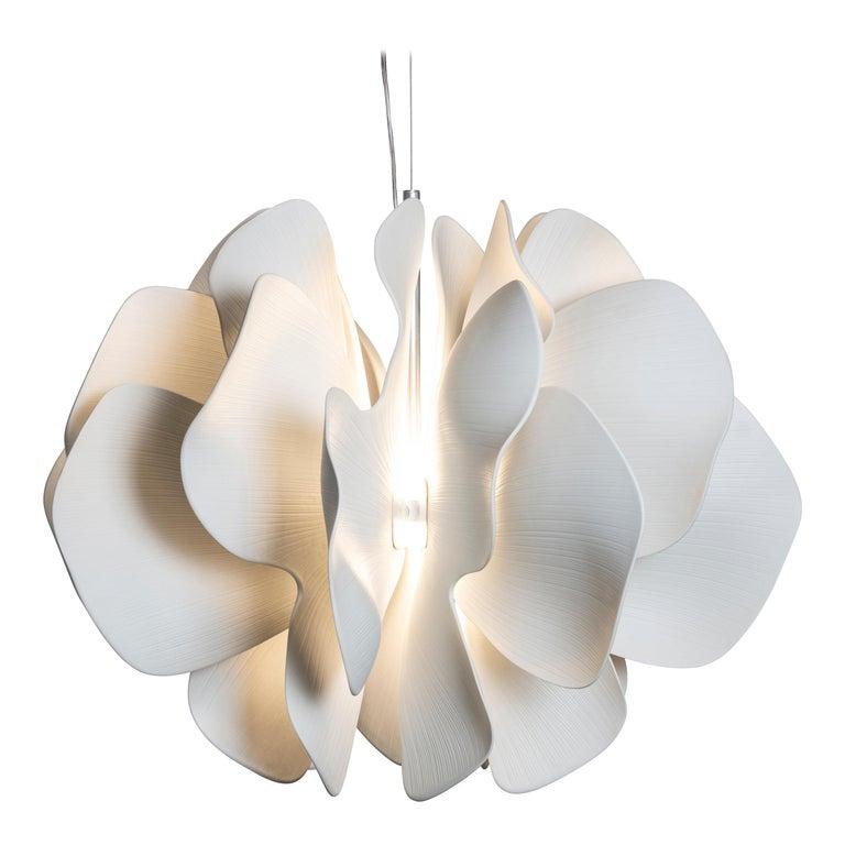 Lladro Nightbloom Hanging Lamp in White by Marcel Wanders For Sale