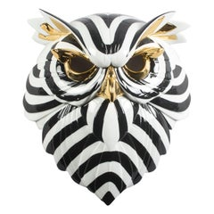 Lladro Owl Mask in Black and Gold by José Luis Santes