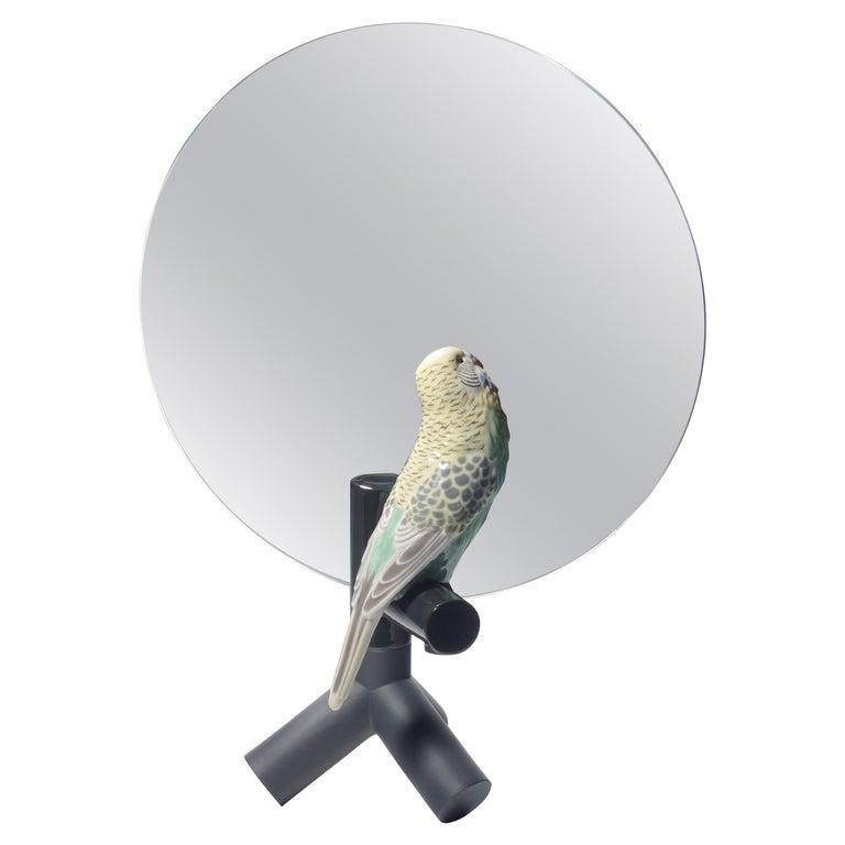 Lladro Parrot Vanity Mirror For Sale