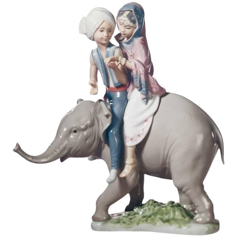Lladro Porcelain Figure Hindu Children For Sale