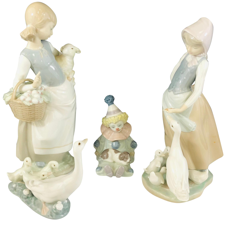 LLadro Porcelain Figurines, a Set of 4