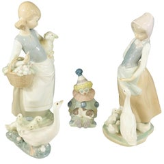 LLadro Porcelain Figurines, a Set of 4