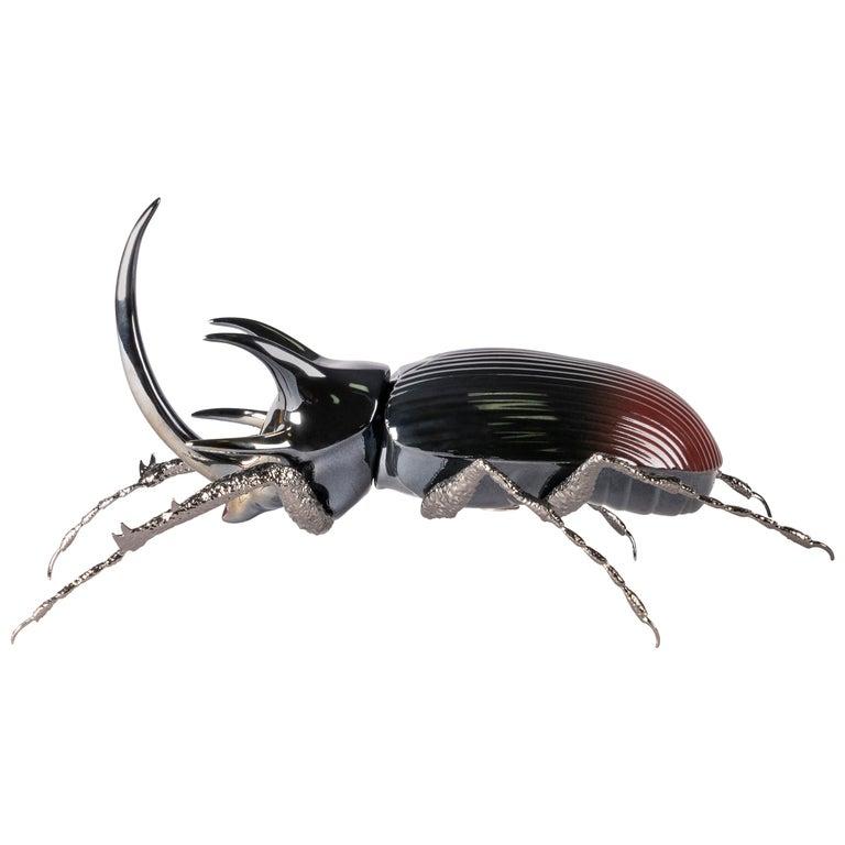 Lladro Rhinoceros Beetle Figurine by José Luis Santes For Sale