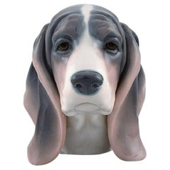 Lladro, Spain, Figure in Glazed Porcelain, Basset Hound, 1980s