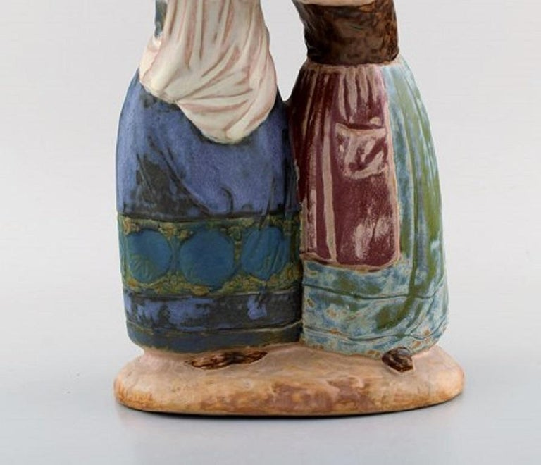 Spanish Lladro, Spain, Large Figure in Glazed Ceramics, Late 20th Century For Sale