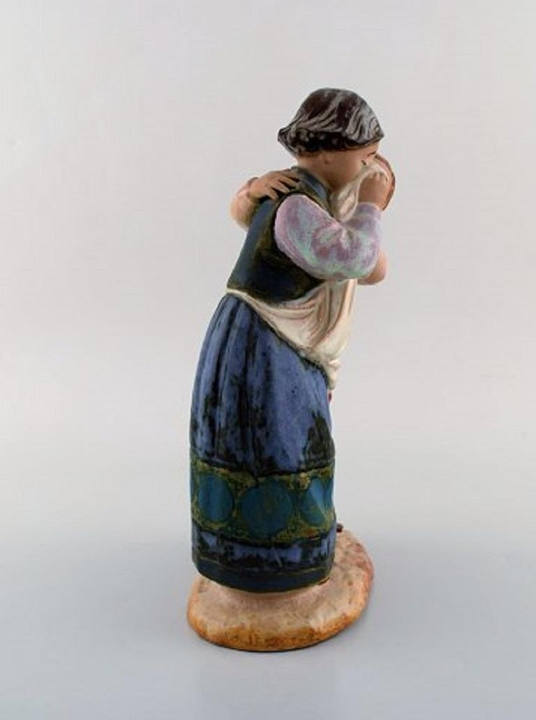 Lladro, Spain, Large Figure in Glazed Ceramics, Late 20th Century In Good Condition For Sale In Copenhagen, Denmark