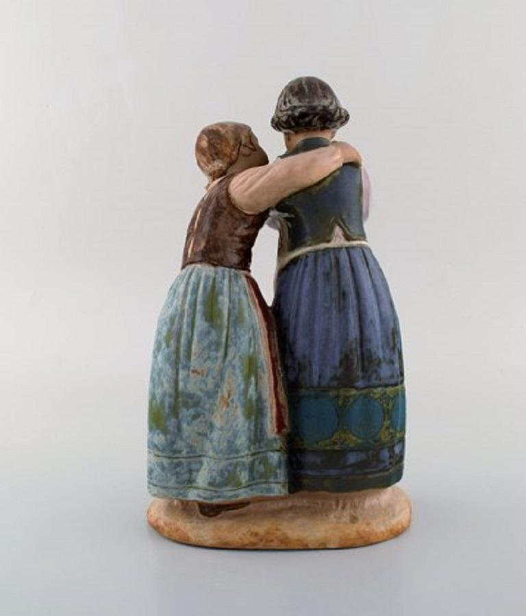 Lladro, Spain, Large Figure in Glazed Ceramics, Late 20th Century For Sale 1