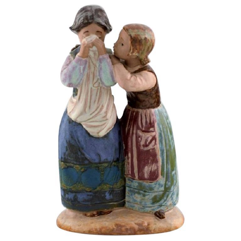 Lladro, Spain, Large Figure in Glazed Ceramics, Late 20th Century