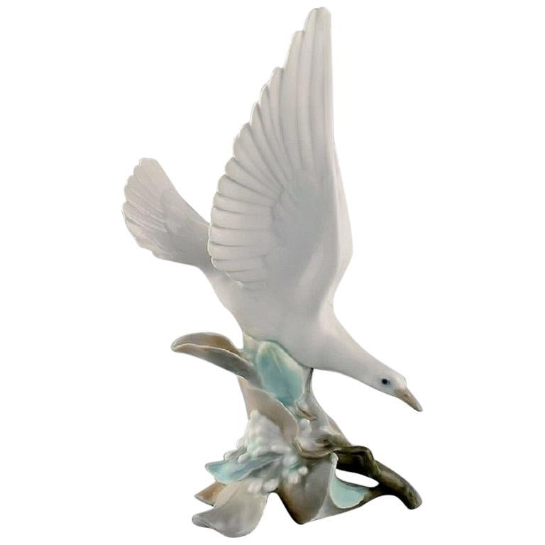 Lladro, Spain, Large Porcelain Figure, Bird, 1980s For Sale