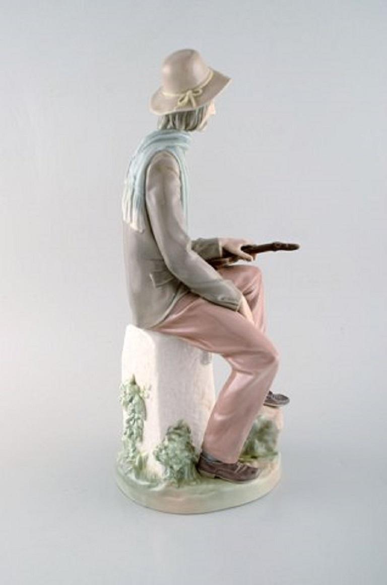 Late 20th Century Lladro, Spain, Large Porcelain Figure, Troubadour, 1980s-1990s For Sale