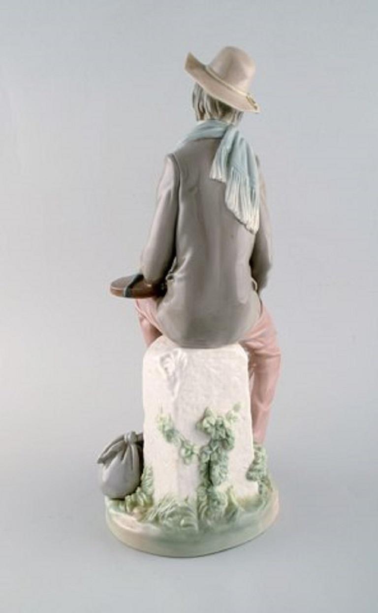 Lladro, Spain, Large Porcelain Figure, Troubadour, 1980s-1990s For Sale 1