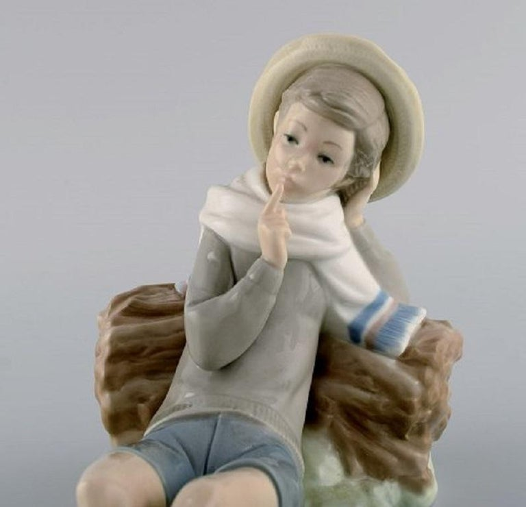 Late 20th Century Lladro, Spain, Three Porcelain Figurines, 1970s-1980s For Sale