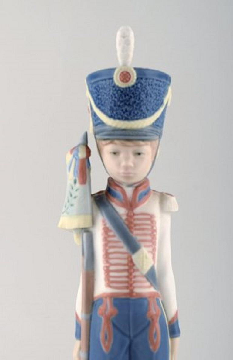 Late 20th Century Lladro, Spain, Two Porcelain Figurines, Guard Boys, 1980s-1990s For Sale