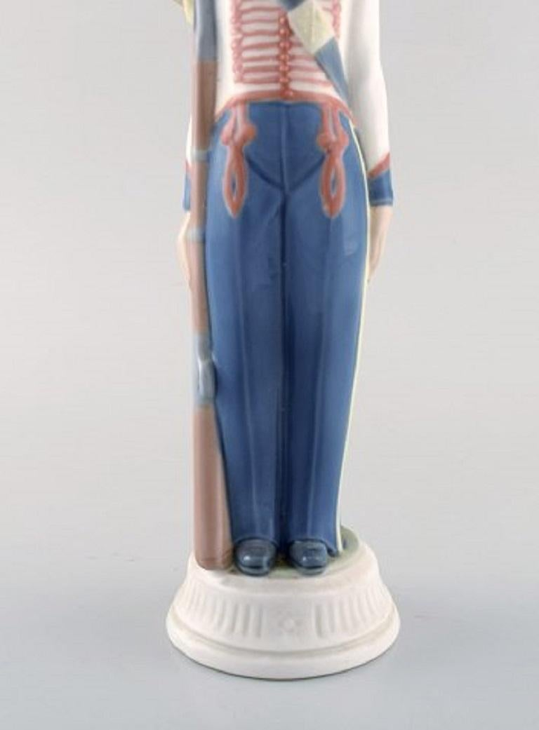Lladro, Spain, Two Porcelain Figurines, Guard Boys, 1980s-1990s For Sale 2