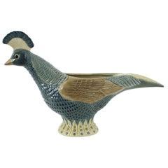 Lladro Spanish Porcelain Pheasant Centerpiece Vase, 1970s