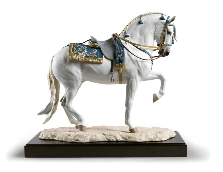 Modern Lladro Spanish Pure Breed Horse Sculpture by Ernest Massuet For Sale