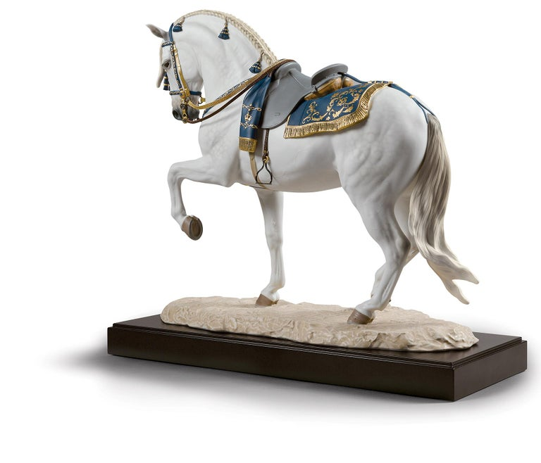 Porcelain Lladro Spanish Pure Breed Horse Sculpture by Ernest Massuet For Sale