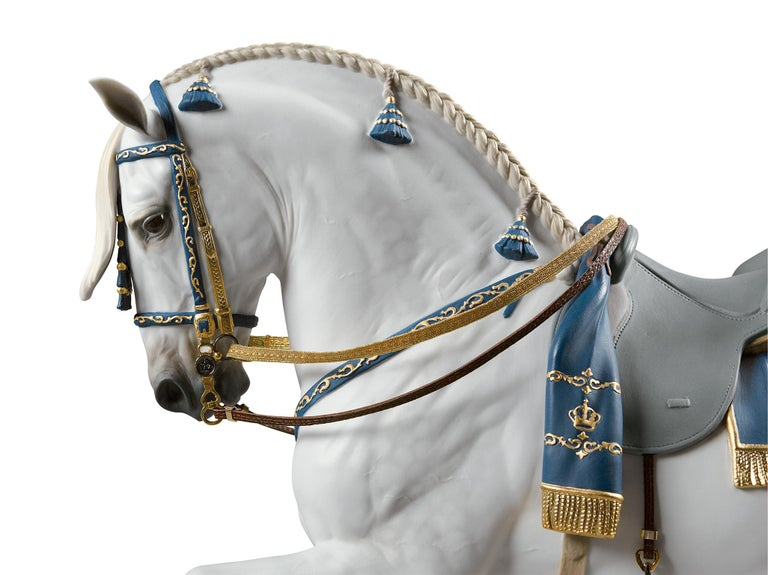 Lladro Spanish Pure Breed Horse Sculpture by Ernest Massuet For Sale 1